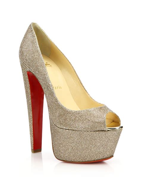 Barratts Platform Peep Toes by Christian Louboutin Suede Platform Pumps Louboutin Prices