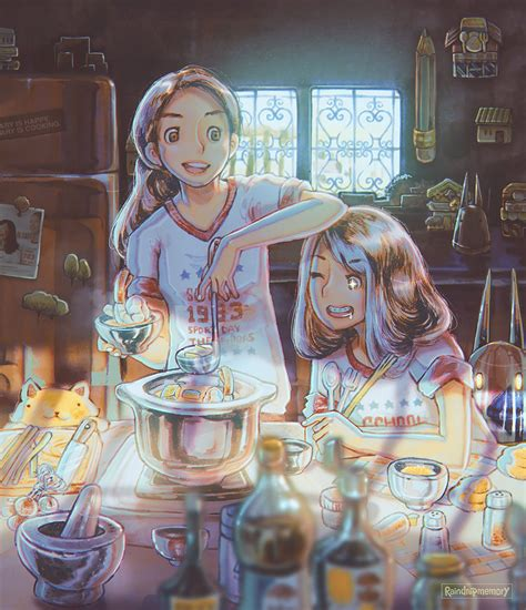 painting girlsgogames is happy is cooking by raindropmemory on