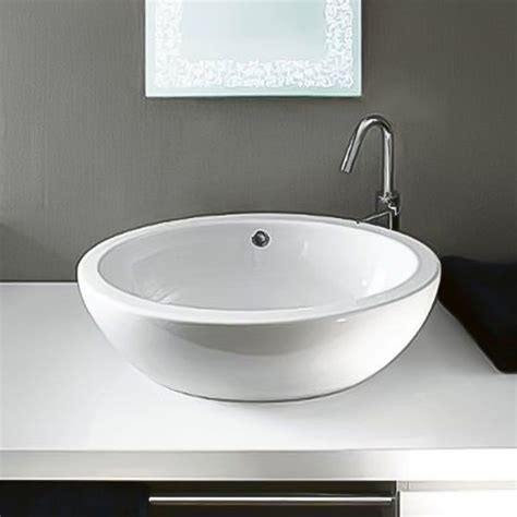 porcelain sinks at lowes shop nameeks panorama white ceramic vessel oval bathroom