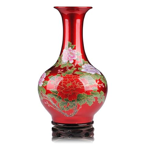 Porcelain Vase by Jingdezhen Beautifully Enamel Porcelain