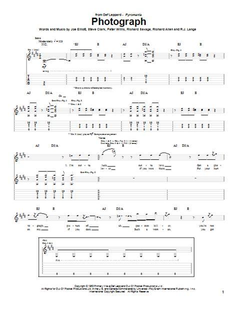 guitar tutorial of photograph photograph guitar tab by def leppard guitar tab 61345