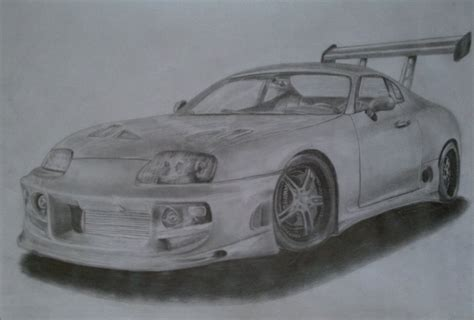 Toyota Supra Drawing Draw Toyota Supra