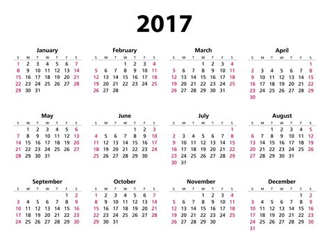 2017 Calendar Year View 2017 Calendar Free Stock Photo Domain Pictures