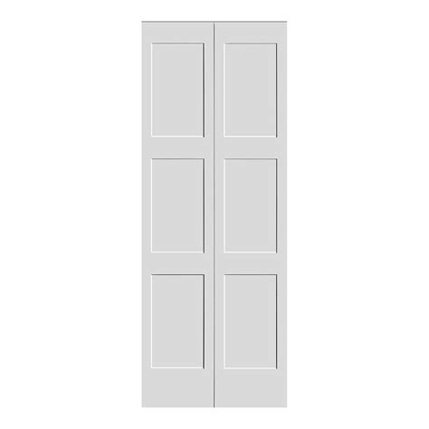 Shaker Bi Fold 3 Panel Equal Interior Doors Trimlite Shaker Closet Doors