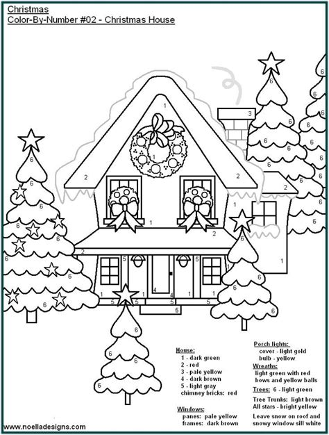 free holiday color by number coloring pages printable paint by numbers for adults az coloring pages