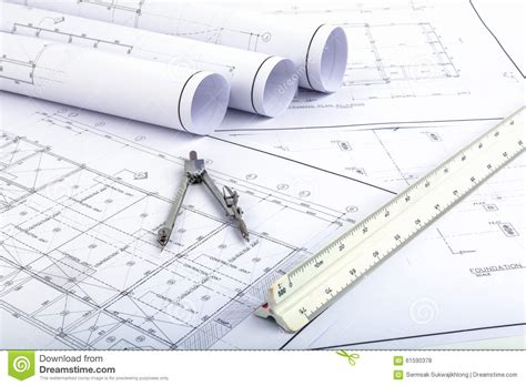house architecture plan stock photography image 5591532 compasses and architect scale ruler on plan drawing stock