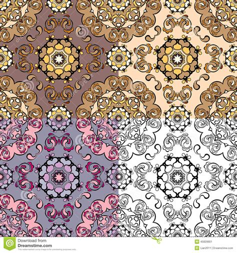 design pattern wrap object set of squared backgrounds ornamental seamless pattern