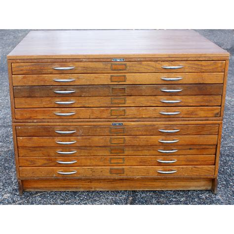 Drawer Cabinet Wood by Vintage Mayline Wood 10 Drawer File Cabinet Ebay