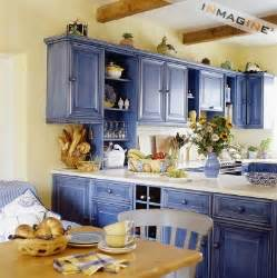 yellow and blue kitchen country kitchens