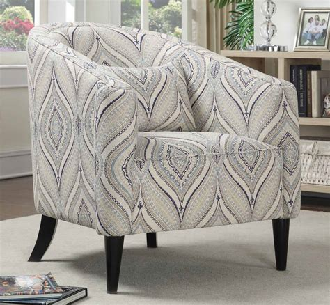 Blue Grey Accent Chair Coaster 902405 Accent Chair White Blue Grey 902405 Homelement