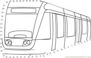 Connect The Dots Low Floor Tram Transporation &gt sketch template