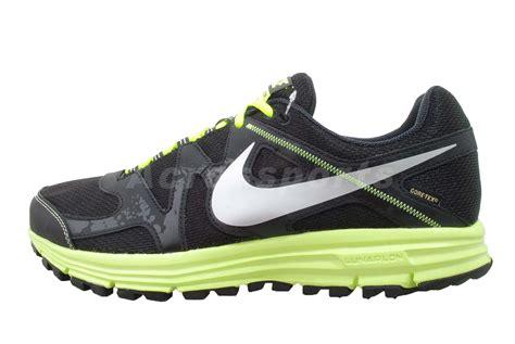 nike gtx running shoes nike lunarfly 3 trail gtx tex black volt mens running