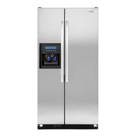 Whirlpool Cabinet Depth Refrigerator by Shop Whirlpool 23 1 Cu Ft Side By Side Counter Depth