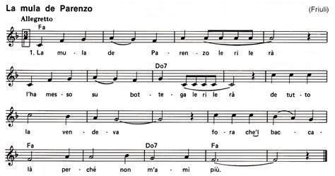 acqua e sale testo e accordi gocce di note canti tradizionali italiani la mula de