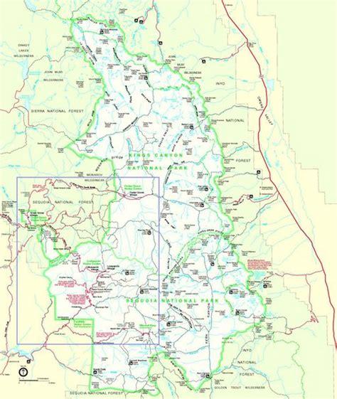 california map sequoia national park sequoia and national park map california