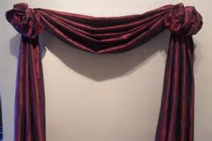scarf valances swags the third great way to hang your scarf swag curtains