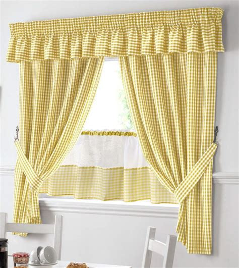 yellow and white kitchen curtains yellow and white gingham kitchen curtains pelmet 18