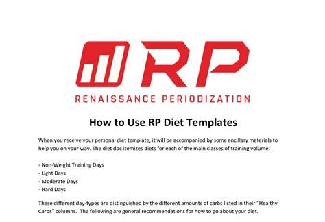 Renaissance Diet Auto Template Juggernaut Training Systems Rp Massing Template