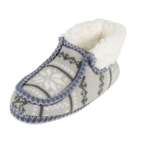 knitted boot slippers boot slippers fairisle knit booties with non slip