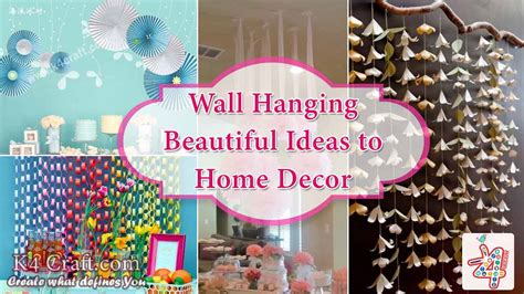 craft ideas to decorate your home diy 10 wall hanging ideas to decorate your home k4 craft