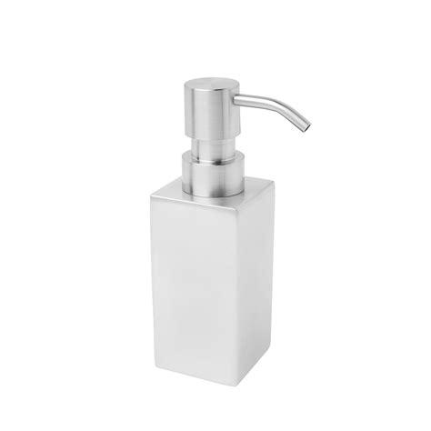 Dispenser Mini Sharp bath bazaar square satin stainless steel mini soap