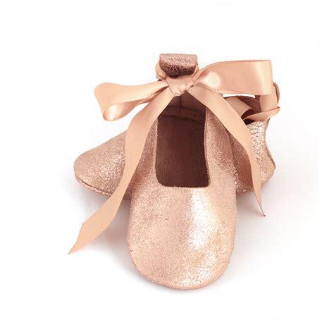 ballerina baby shoes gold baby ballet flats gold ballet flats flower