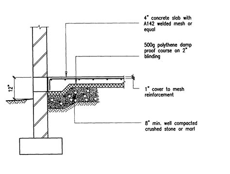 Does Concrete Floor Slab Drawing House Plan   House Plans