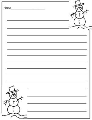 free printable snowman writing template free printable christmas writing templates to encourage