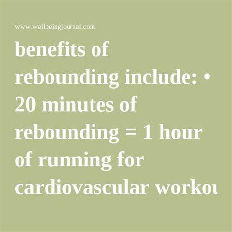 Detox Symptoms From Rebounding by 25 Best Ideas About Rebounding On Rebounder