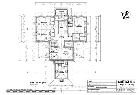 Exle Self Build 7 Bedroom Farm House Building Plan Design