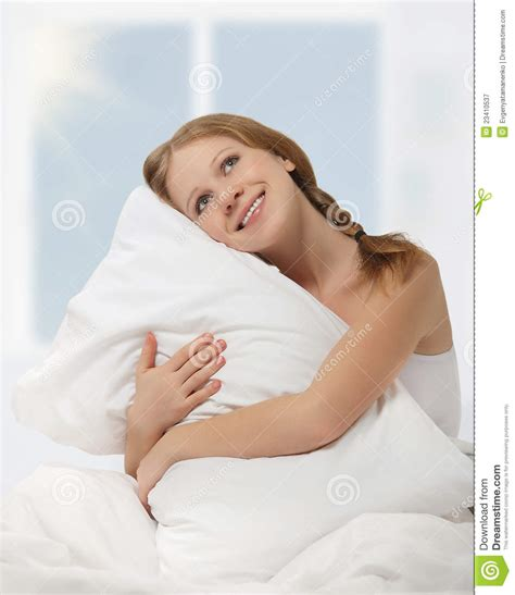 Pillow Hugging by Dreamy Hugging Pillow While In Bed Royalty