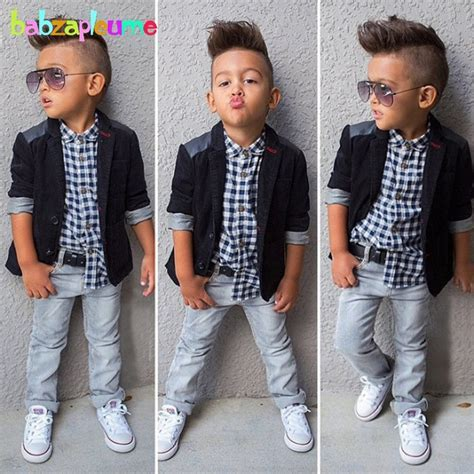Gentleman Style Kids Boy Clothes Jacket Shirt Jeans 3pcs