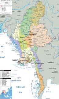 political map of myanmar political map of myanmar ezilon maps