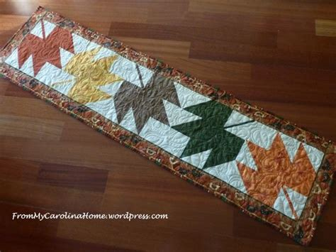 leaf pattern table runner maple leaf table runner from my carolina home