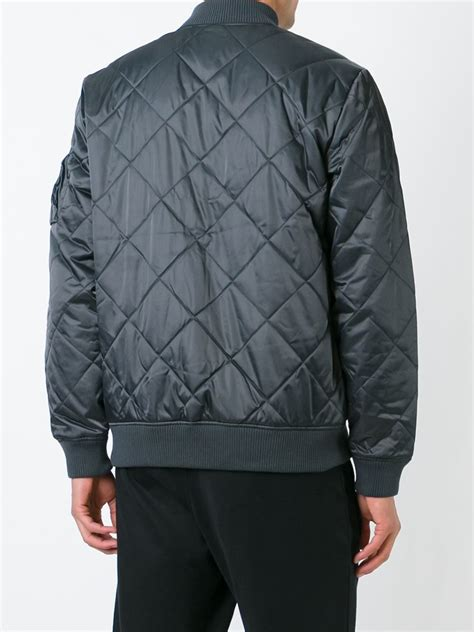 Adidas Quilted Bomber Jacket by Adidas Originals Quilted Bomber Jacket