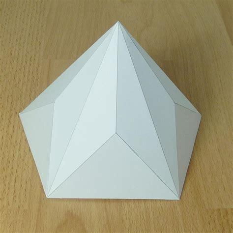 Paper Pyramid Craft - paper model pentagonal decagonal pyramid paper projects