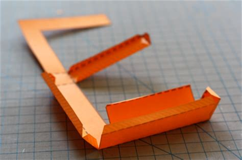 How To Make 3d Alphabets With Paper - build 3d paper letters from a nifty font how about orange