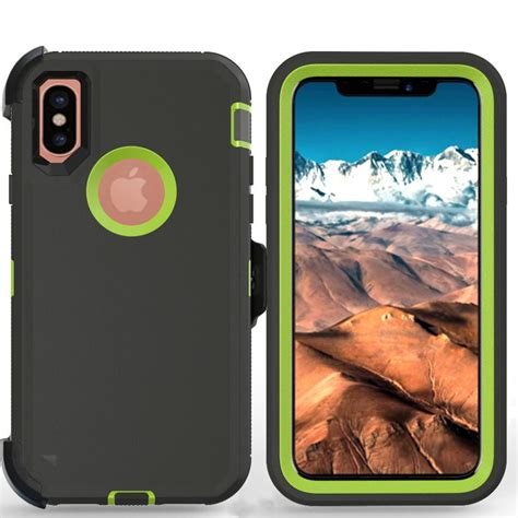 for apple iphone xs max defender w tempered screen unvrsl clip fit otterbox ebay