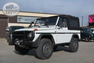 Mercedes G Series For Sale 1986 White G Wagon Turbo Diesel Cabrio G Class G Series