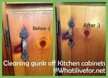 Kitchen Cabinets Cleaner Cleaning Gunk Off Kitchen Cabinets Diy Crafts Pinterest