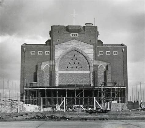 Building Design Plan barry rose obe guildford cathedral the tower incomplete