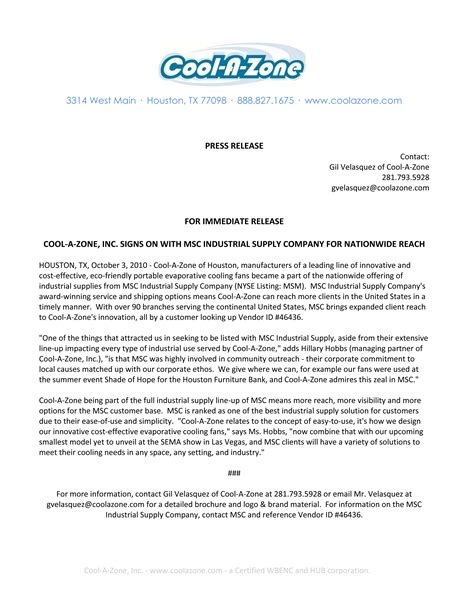 Press Release Letter Format Press Release Sle Design Images