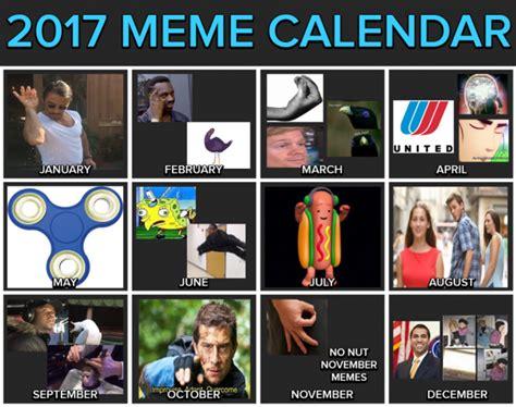 Meme Calendar 2017 - 2017 meme calendar image humor satire parody mod db