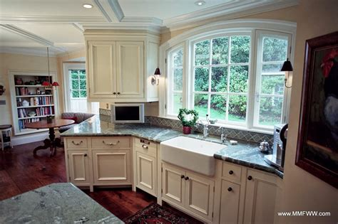 painted and stained kitchen cabinets custom kitchen cabinets with a mix of painted and stained