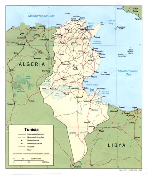 tunisia on map tunisia maps perry casta 241 eda map collection ut library
