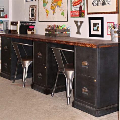 Desk File Cabinet by File Cabinet Desk Diy Home Office Diy Desk Repurpose Furniture