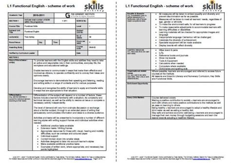 outstanding lesson plan template scheme of work skills workshop
