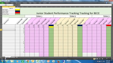 performance tracking excel template tracking students performance in a dual curriculum school