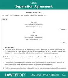 separation agreement template separation agreement template free separation agreement