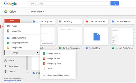 membuat database di google drive menyimpan file di google drive dengan mudah dan aman
